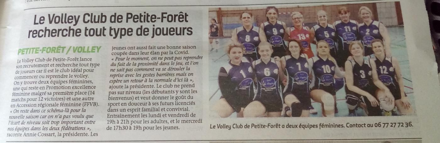ARTICLE DE L'OBSERVATEUR VALENCIENNOIS